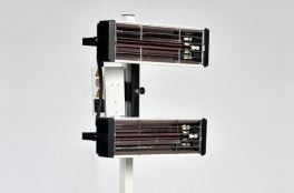 Infrared paint curing lamp