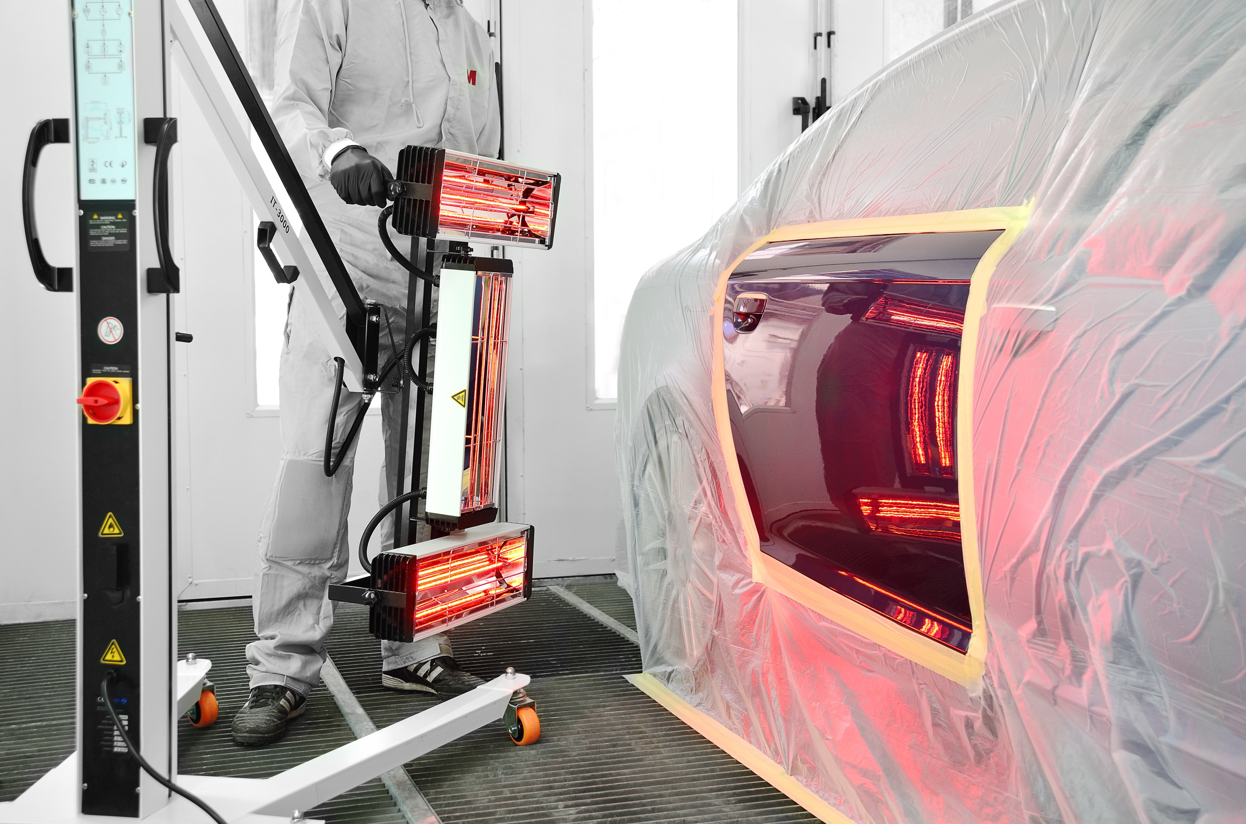 how effective are infrared curing lamps