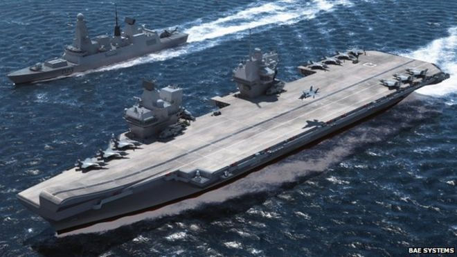 supplying royal navy ship, hms queen elizabeth