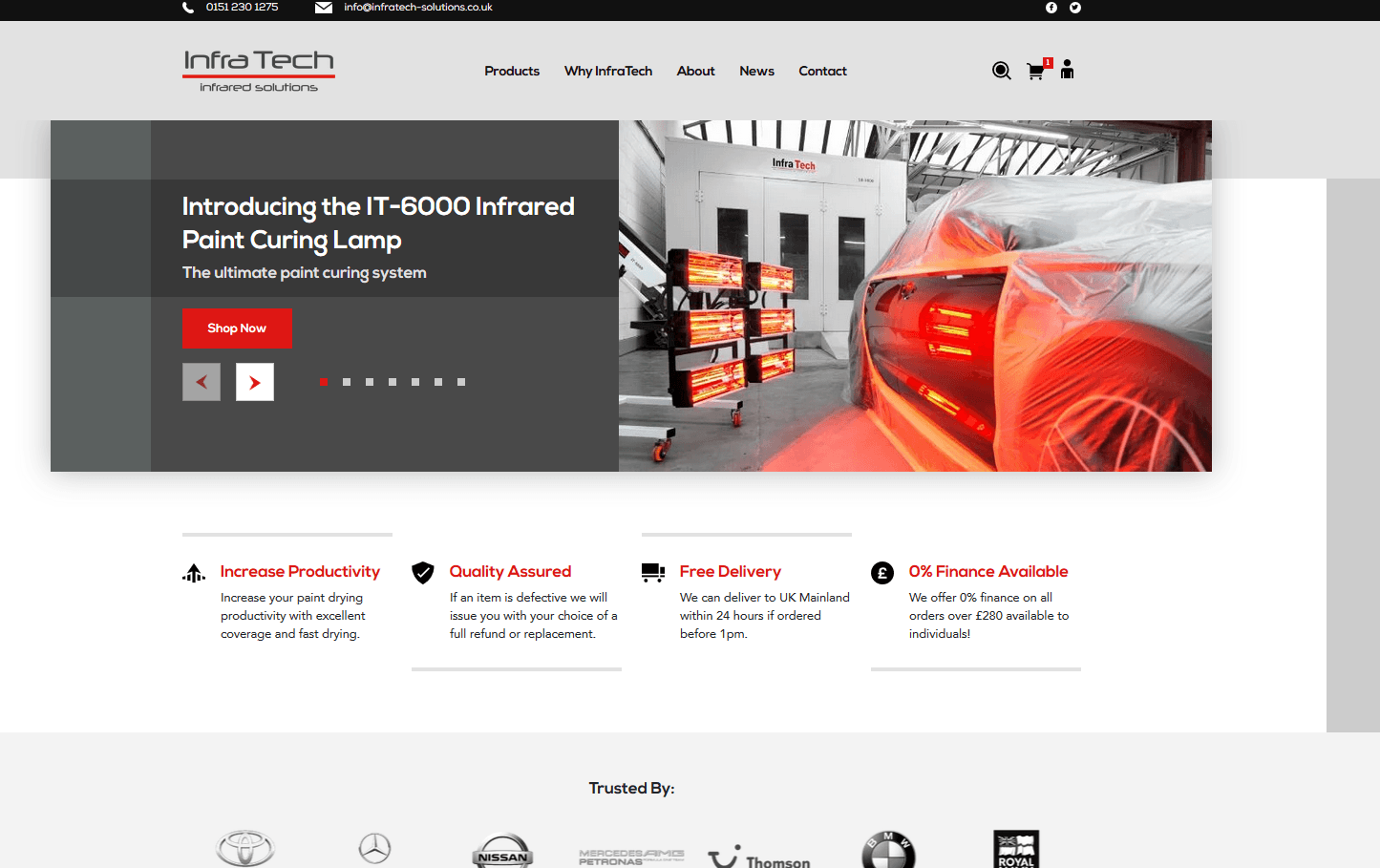 introducing the new infratech infrared solutions website
